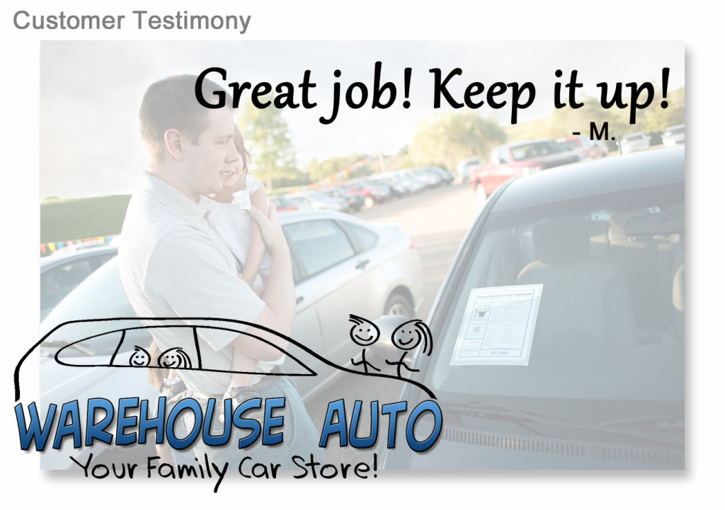 Warehouse Auto Swisher IA Enjoy Car Shopping Testimony 001